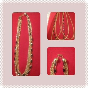 Like new gold NECKLACE with Navy
